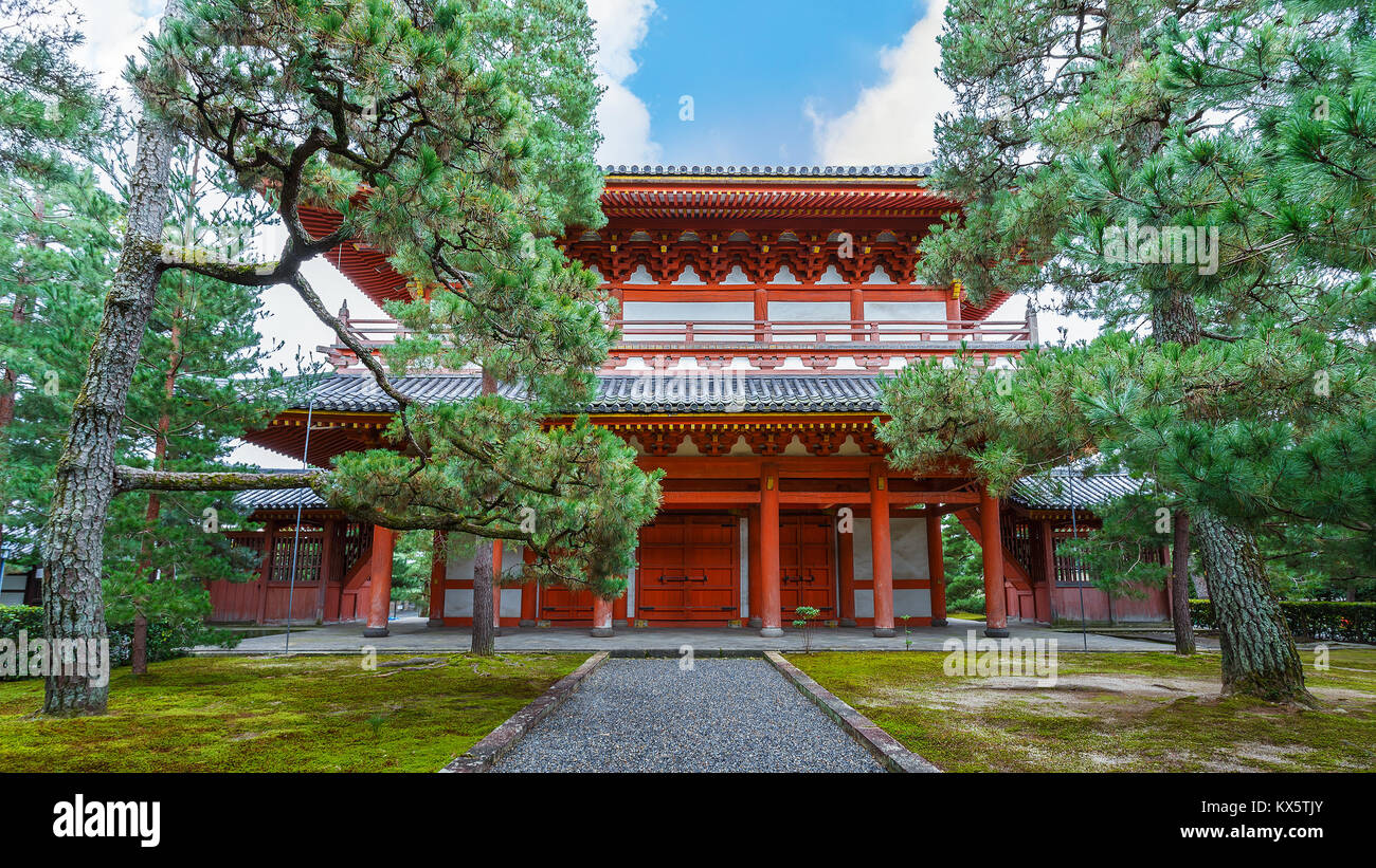 Sanmon Gate at Daitoku-ji Temple in Kyoto, Japan  KYOTO, JAPAN - OCTOBER 22: Daitoku-ji Temple in Kyoto, Japan on - Stock Image
