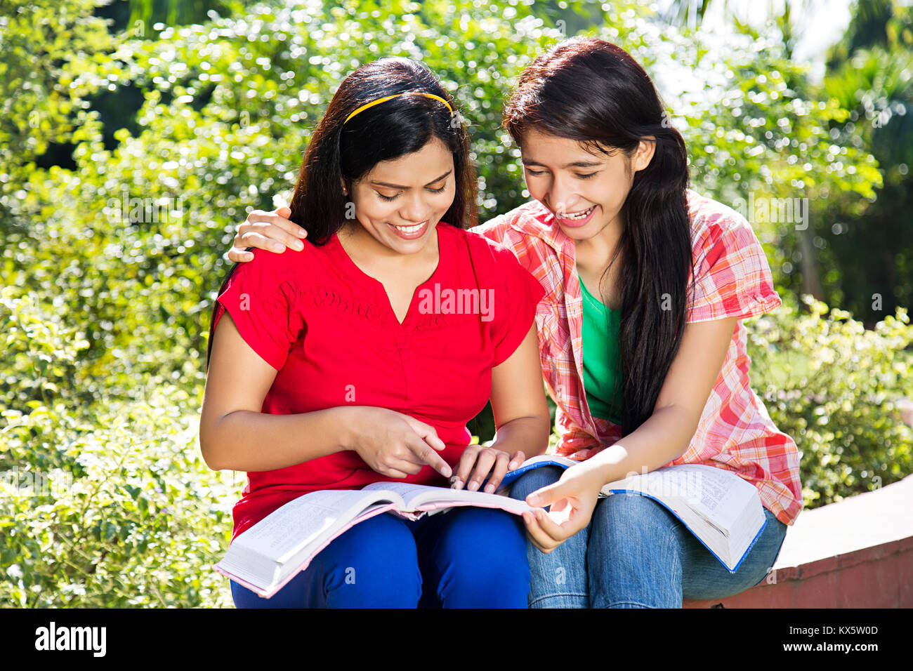 indian college girl studying