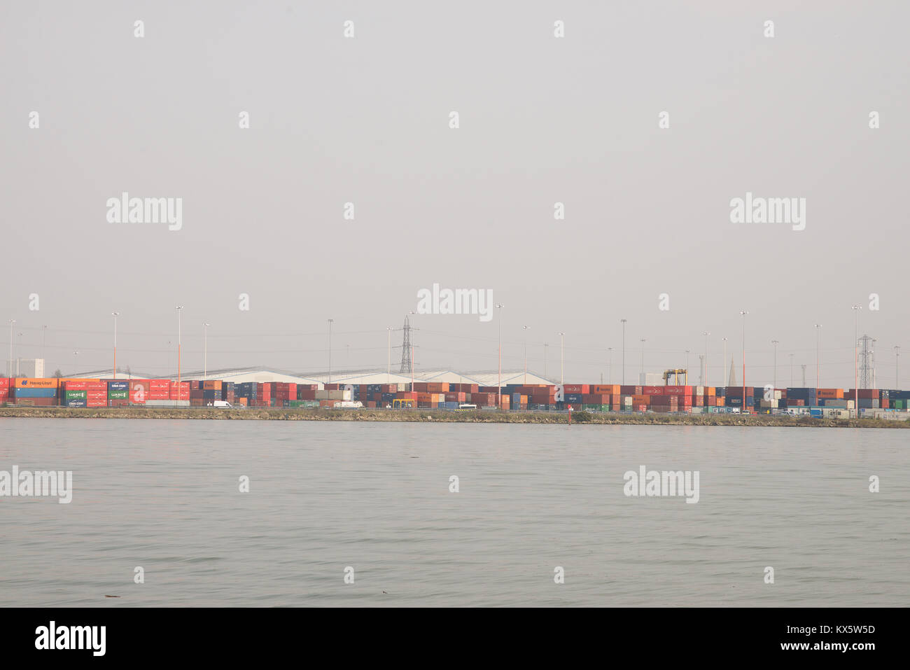 Containers at Southampton Docks - Stock Image