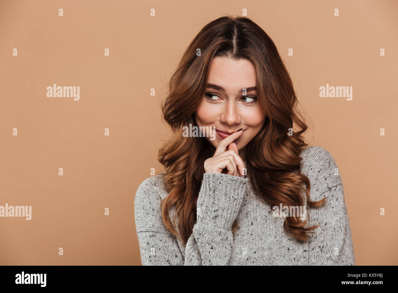 Shy Woman High Resolution Stock Photography And Images Alamy