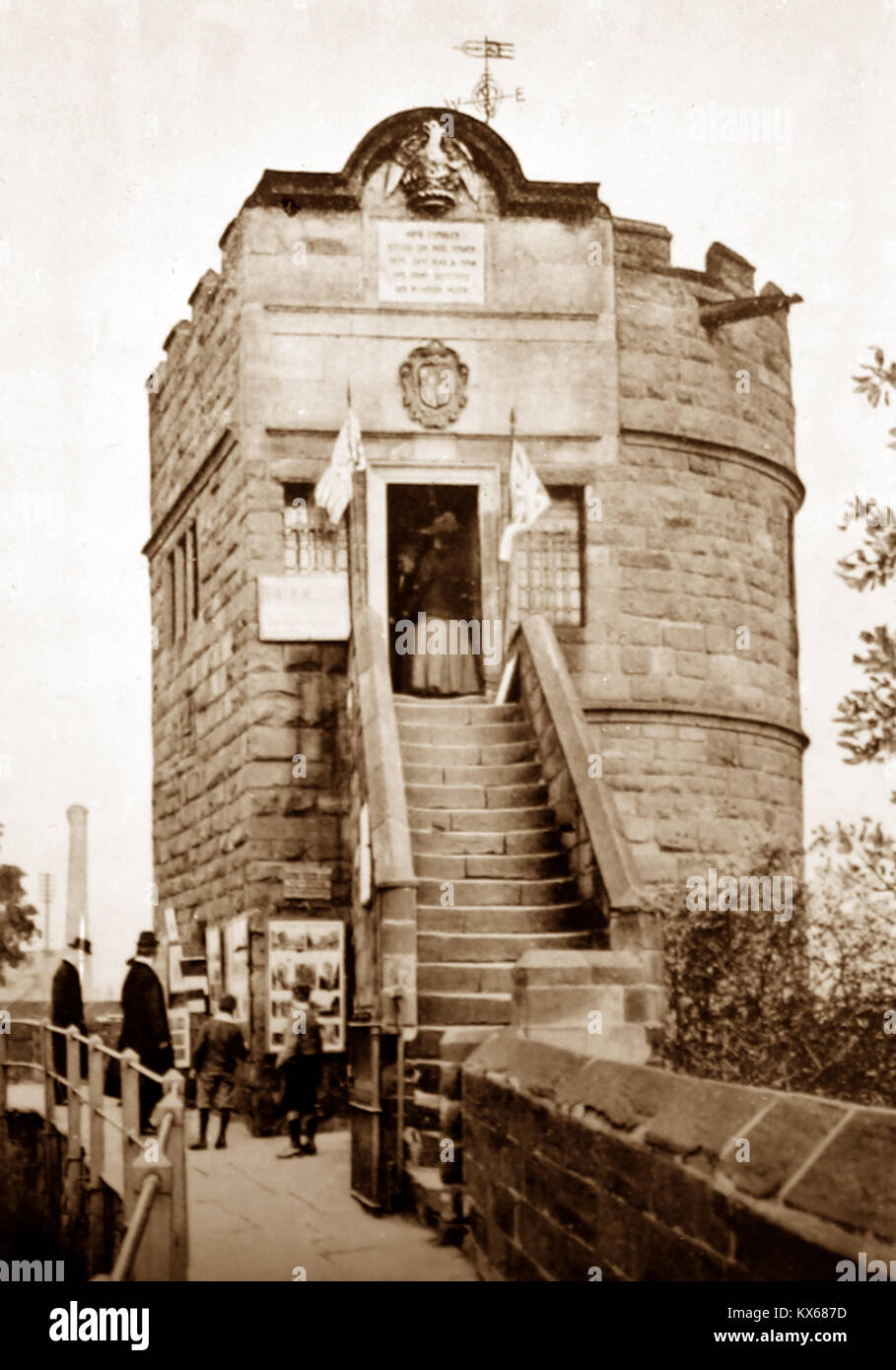 King Charles' Watch Tower, City Walls, Chester, early 1900s - Stock Image