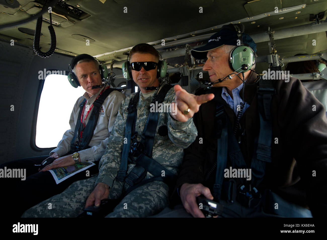 Utah LT. Governor Greg Bell and Brig. General Burton, Army Utah National Guard assistant adjutant general participate Stock Photo