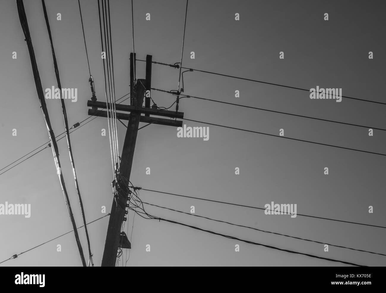 Electric Pole Black and White Stock Photos & Images - Alamy