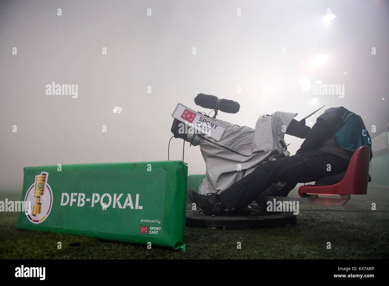 Feature Tv Kamera Kameraman Im Nebel Rauch Der Von Den