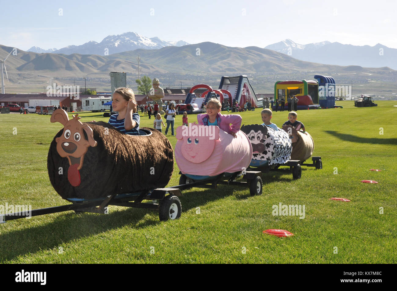 Utah National Guard celebrates Camp Williams 100 year anniversary with Iron Will races and open house May 17, 2014. - Stock Image