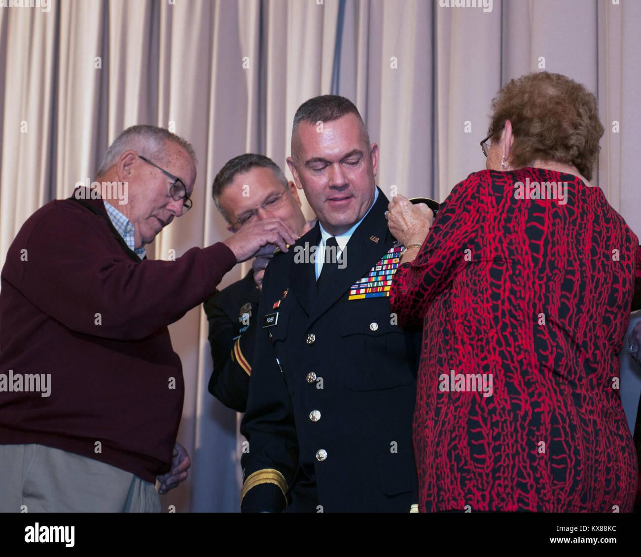 Brig. Gen. Thomas Fisher promotion ceremony 11-5-16 - Stock Image