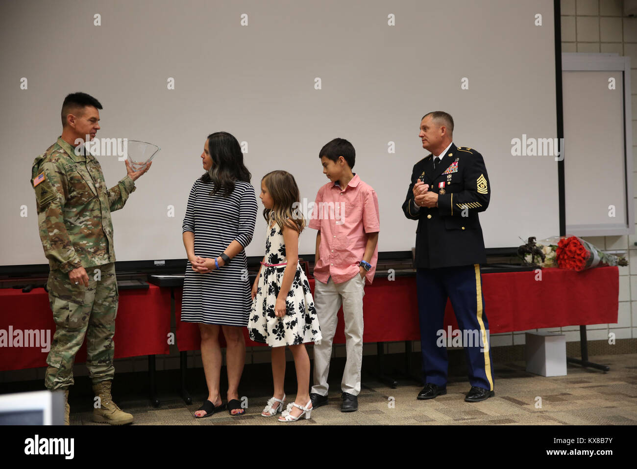 US military National Guard awards and promotion ceremony