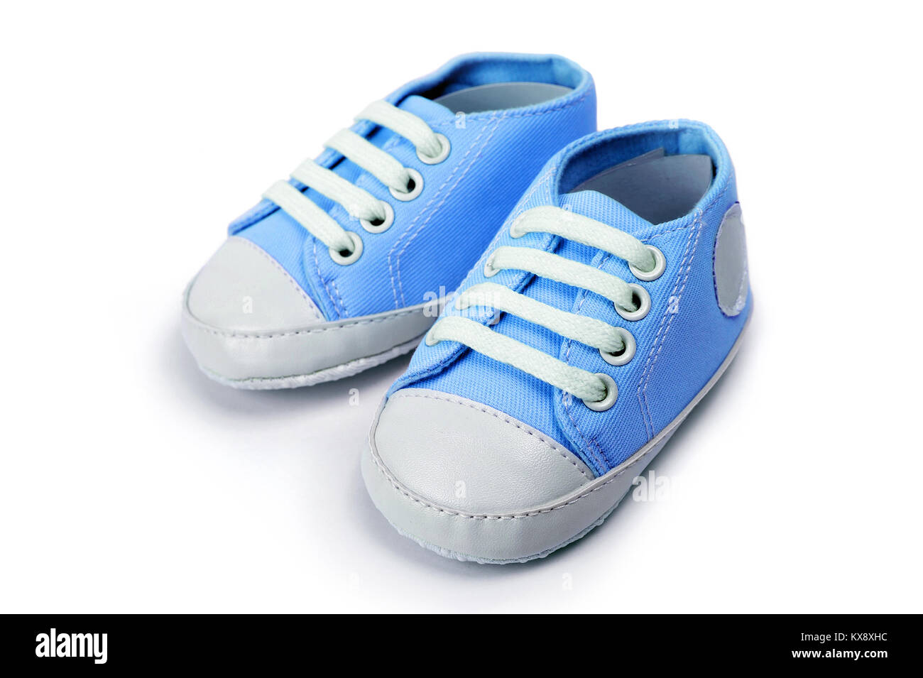 Blue Baby Shoes High Resolution Stock