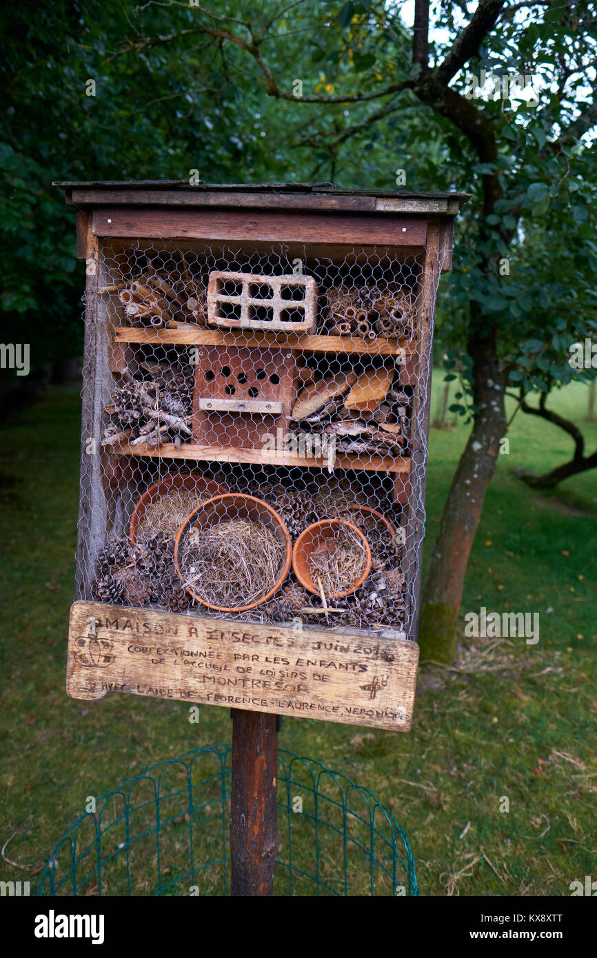 An insect nesting / hibernating box - Stock Image