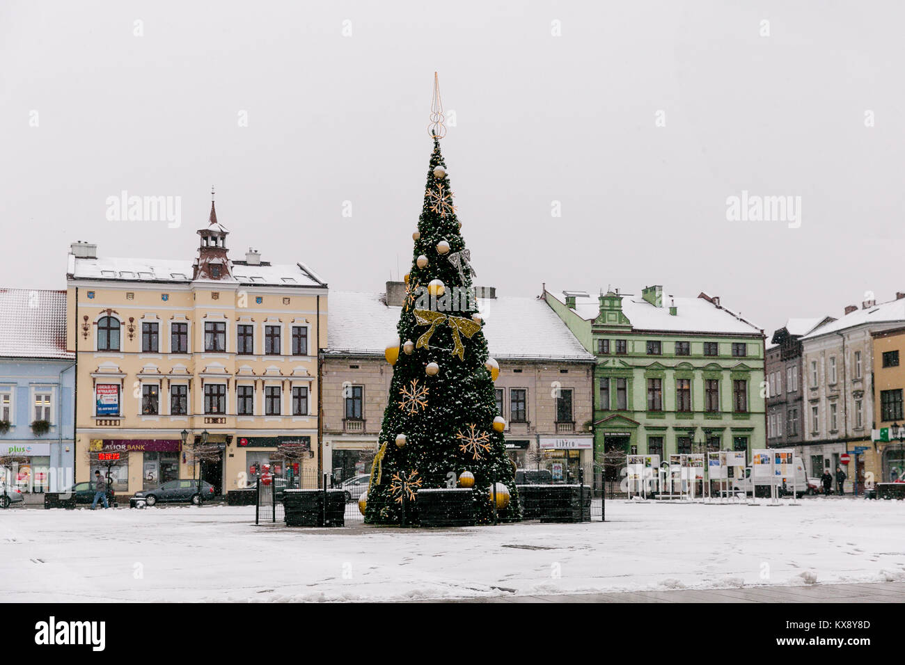 Christmas Tree In Old Town Stock Photos & Christmas Tree In Old Town ...