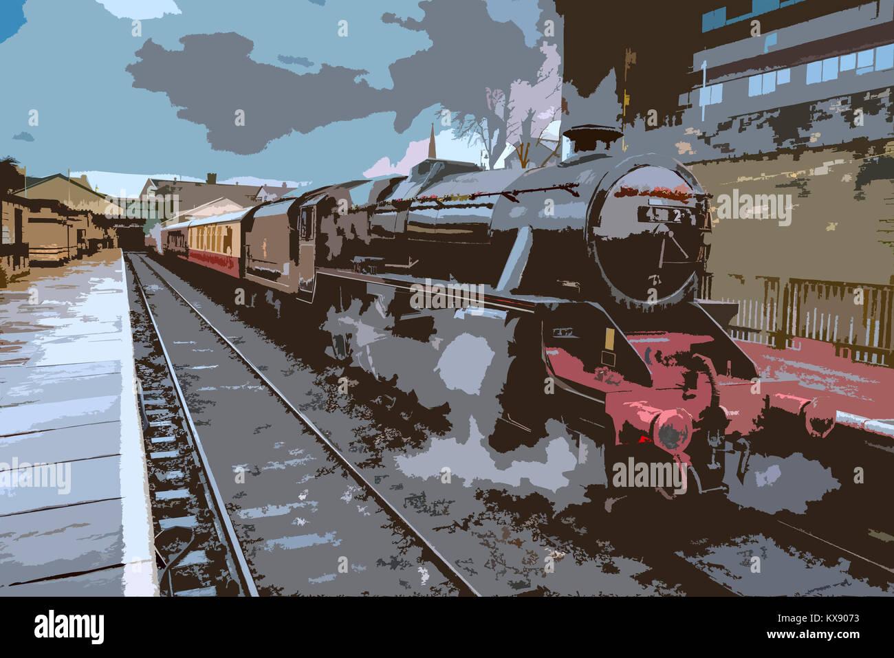 London Midland & Scottish Railway Class 5MT ('Black 5') 4-6-0 No. 45212 East Lancashire Railway. Bury - Stock Image