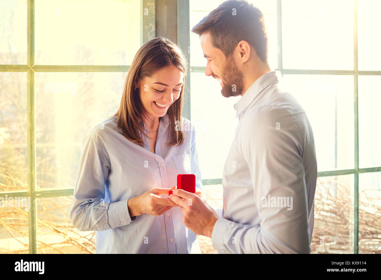 Marriage proposal. - Stock Image