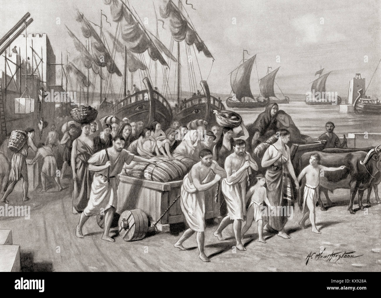 The founding in 122 BC by Gaius Gracchus of the short-lived colony in Carthage called Colonia Iunonia.  The purpose - Stock Image