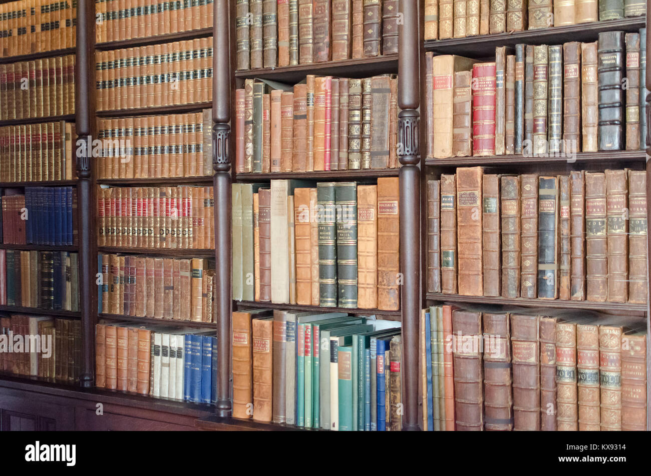 If knowledge is power, then these books are a historical treasure trove... Stock Photo