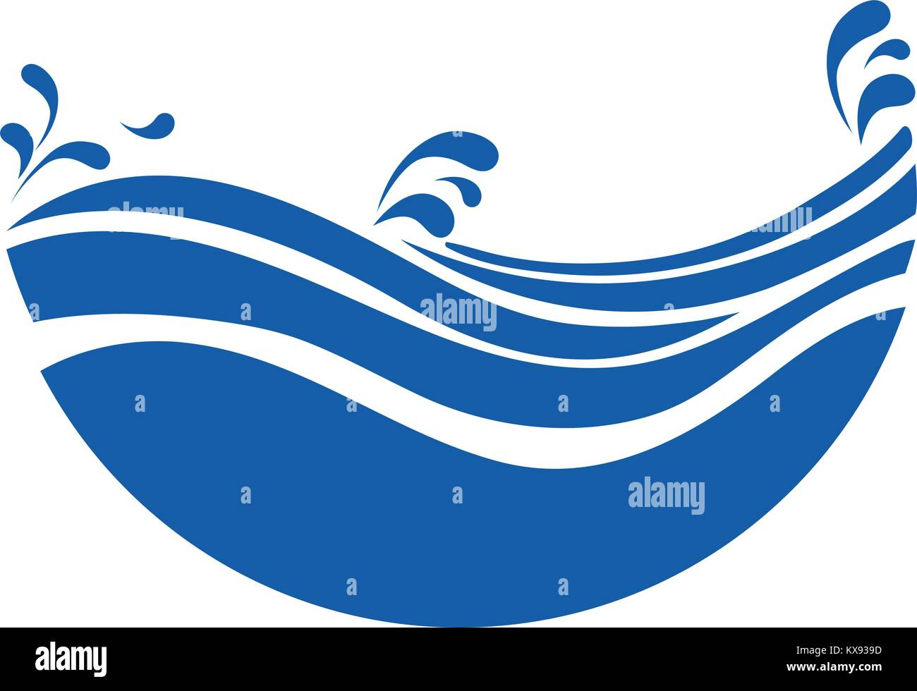 Ocean Wave Curve Surf Stock Vector Images Alamy