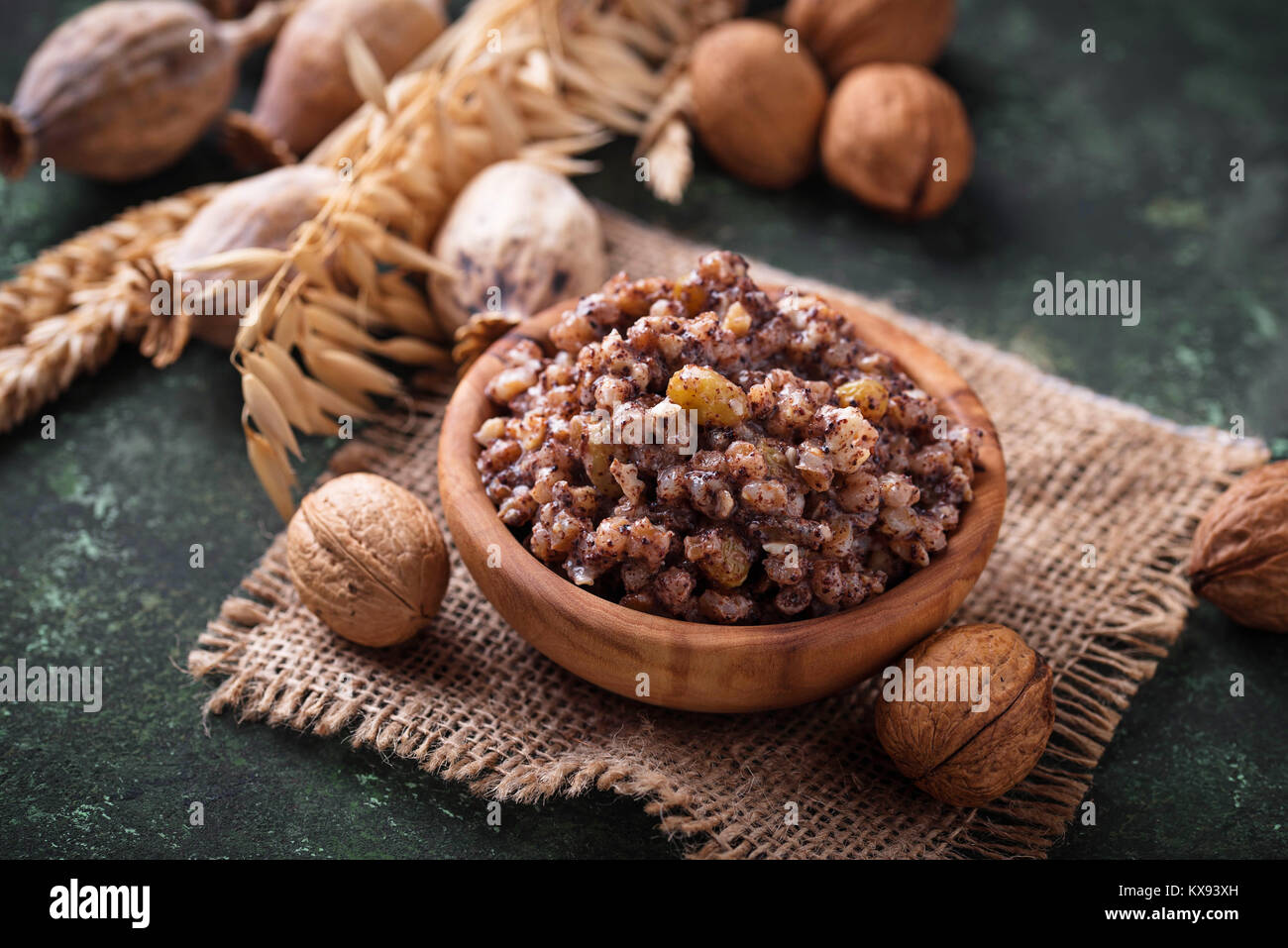 Traditional sweet meal kutia. Christmas dish in Ukraine, Belarus - Stock Image