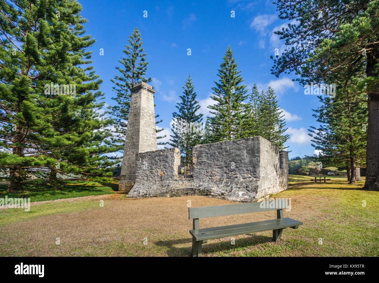 Norfolk Island, Australian external territory, Kingston, view of the ruins of the Salt House build in 1846 and emlpoyed - Stock Image