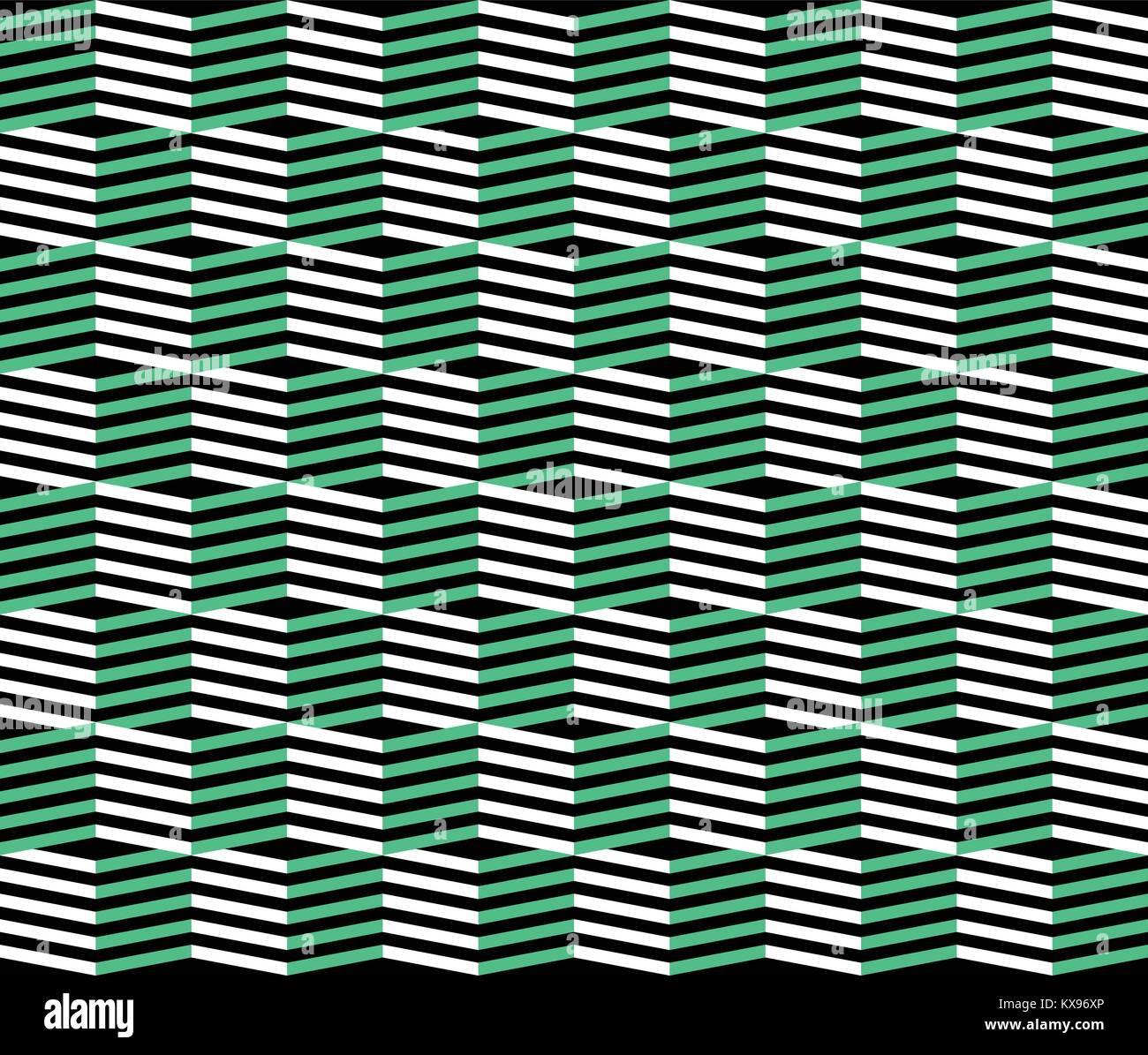 Retro zigzag pattern. Abstract geometric background, Simple illustration. Print clothing, shirt, sundress, dress, - Stock Vector