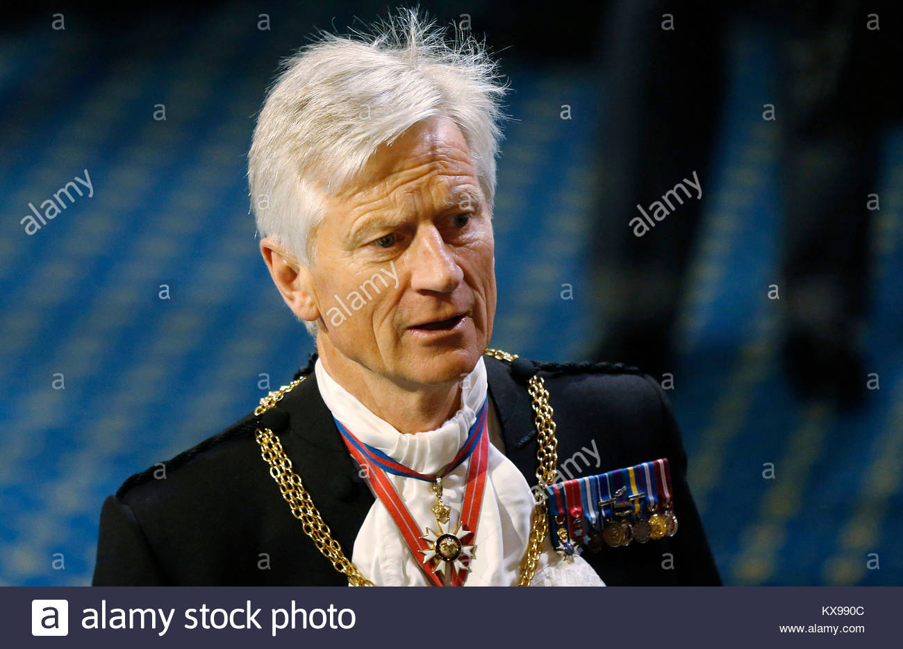 File photo dated 27/05/15 of David Leakey, who left the Black Rod parliamentary post at the end of last year, has - Stock Image