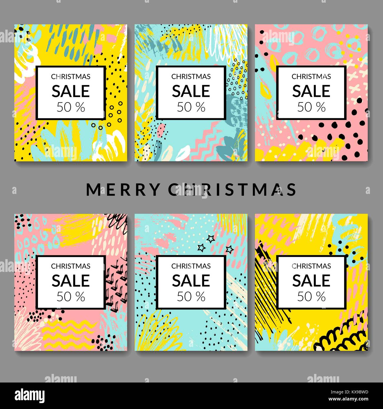 Christmas abstract backgrounds. Sale. - Stock Image