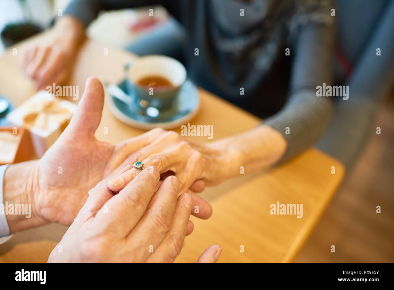 Making Marriage Proposal - Stock Image