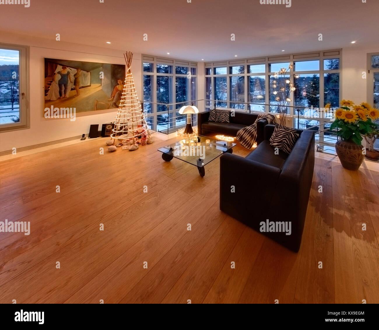 DE - BAVARIA: Contemporary Interior  (HDR Image) - Stock Image