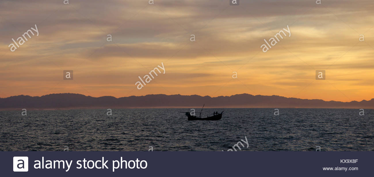 St.Martins early morning,Teknaf, Cox'sbazar,Chittagong, Bangladesh, South Asia, Asia - Stock Image
