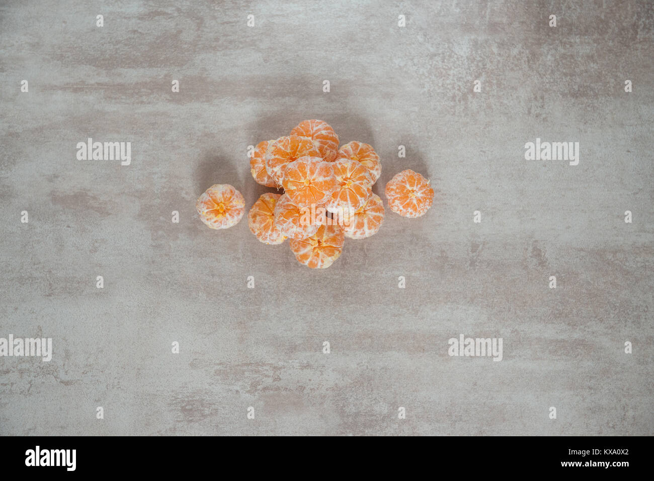 Orange Mandarines, Clementines, Tangerines or small oranges Stock Photo