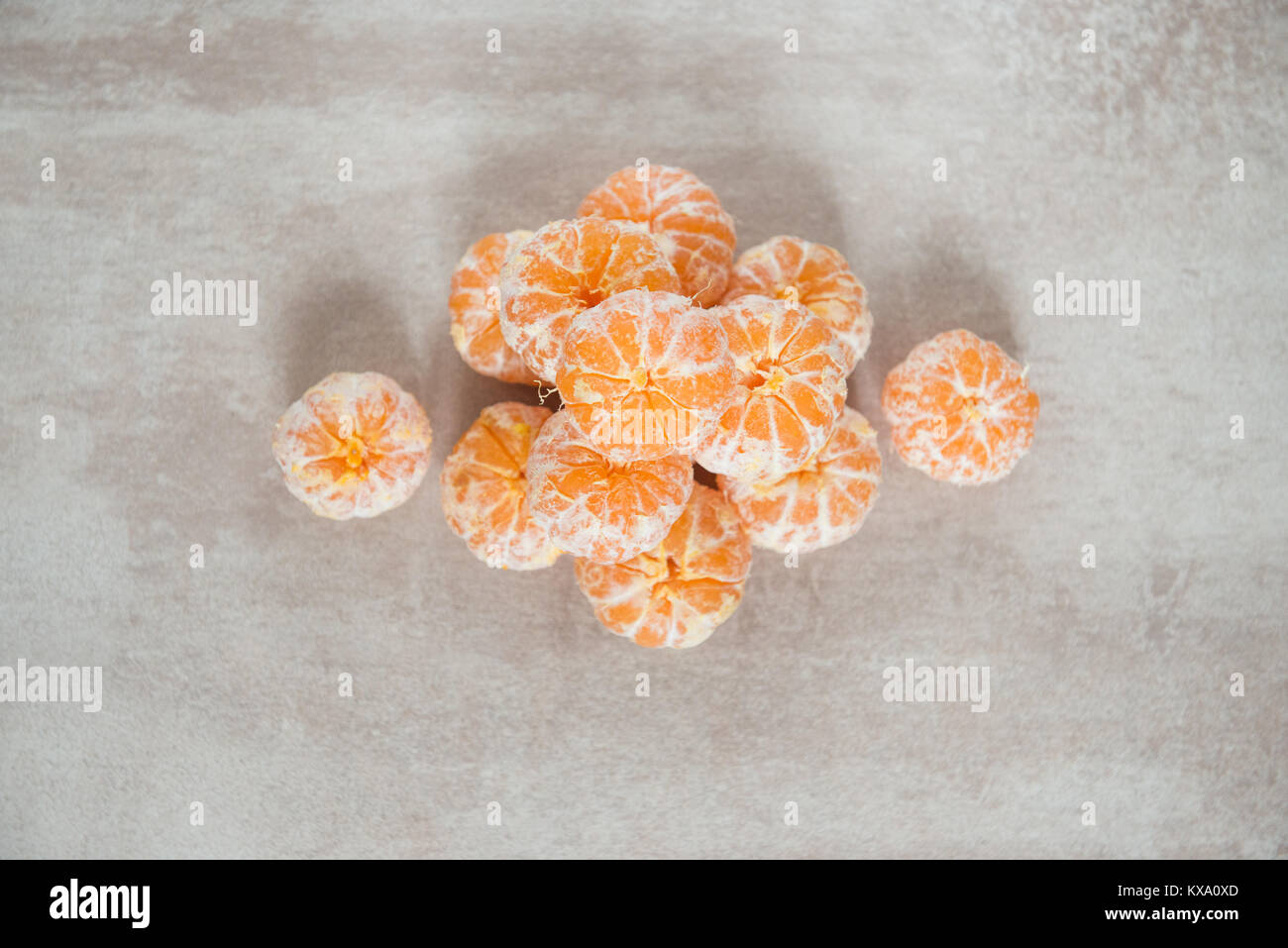 Orange Mandarines, Clementines, Tangerines or small oranges - Stock Image