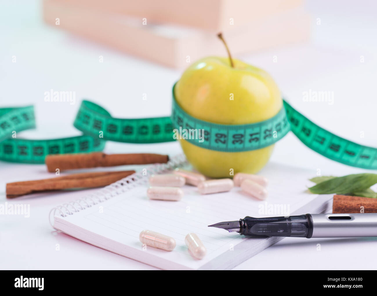 Diet Plan Concept and Slimming Plan - Stock Image