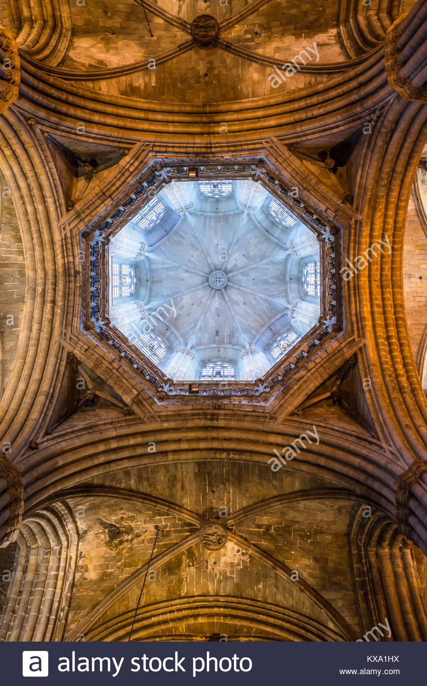 Gothic vaulted ceiling stock photos gothic vaulted for Cathedral style ceiling