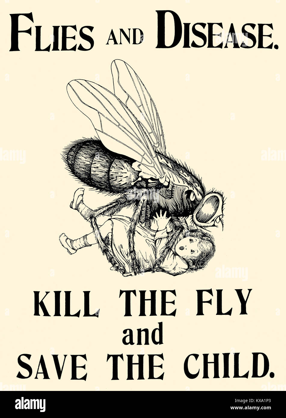 Kill The Fly and Save the Child - Stock Image