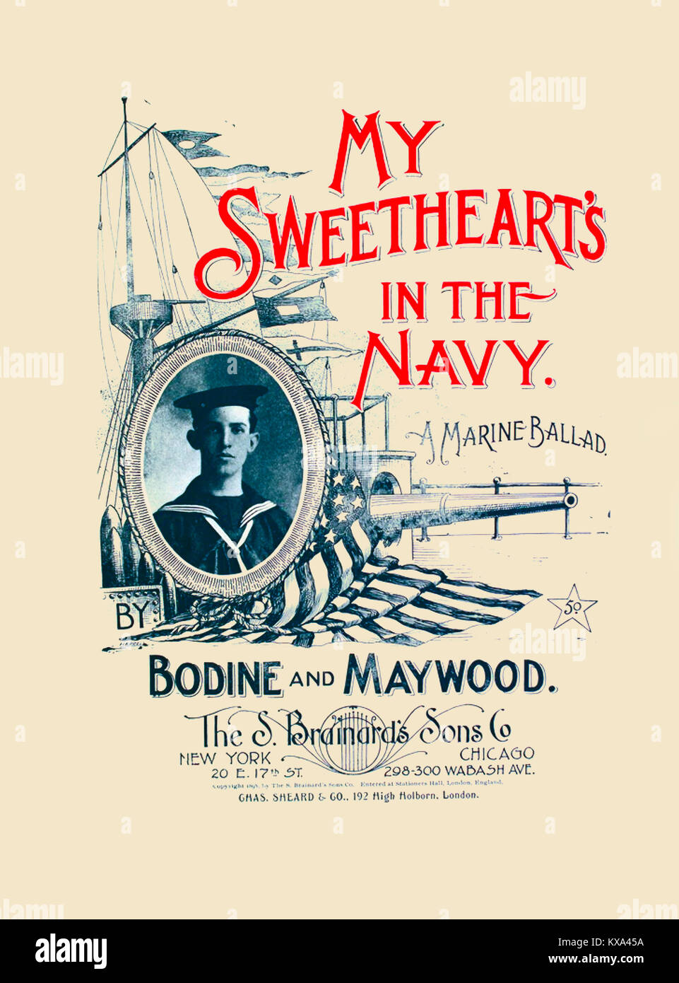 My Sweetheart's in the Navy - Stock Image