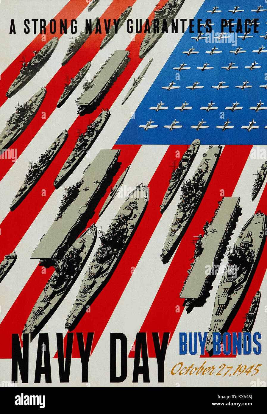 Navy Day October 27, 1945 - Stock Image