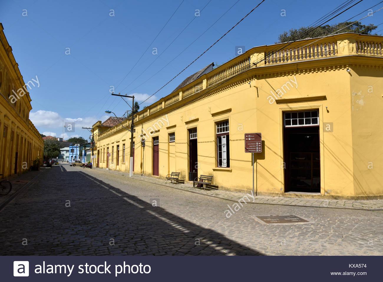Museu Nacional do Mar no centro histórico da cidade,São Francisco do Sul, Santa Catarina, Brazil, 08/2017 - Stock Image