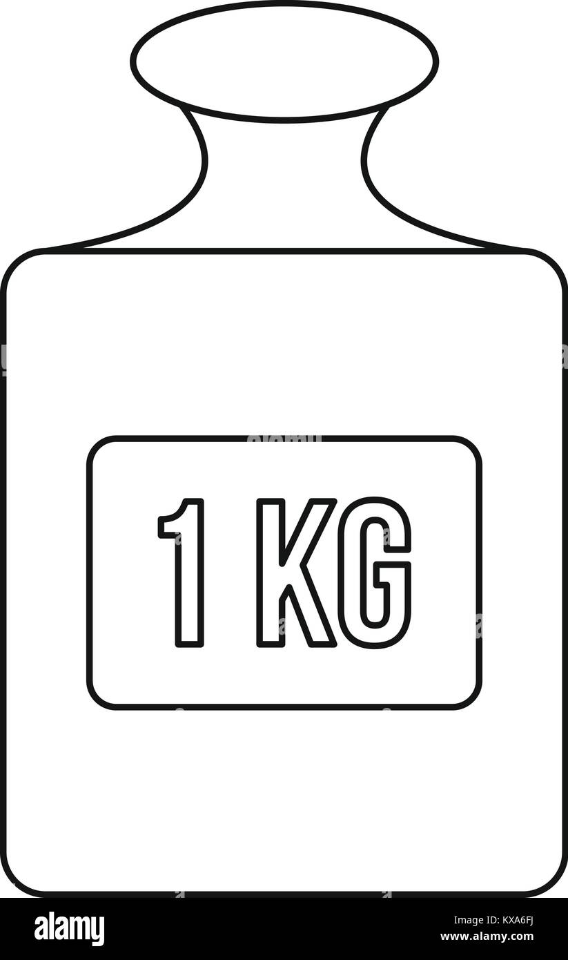 Weight sign icon, outline style - Stock Image