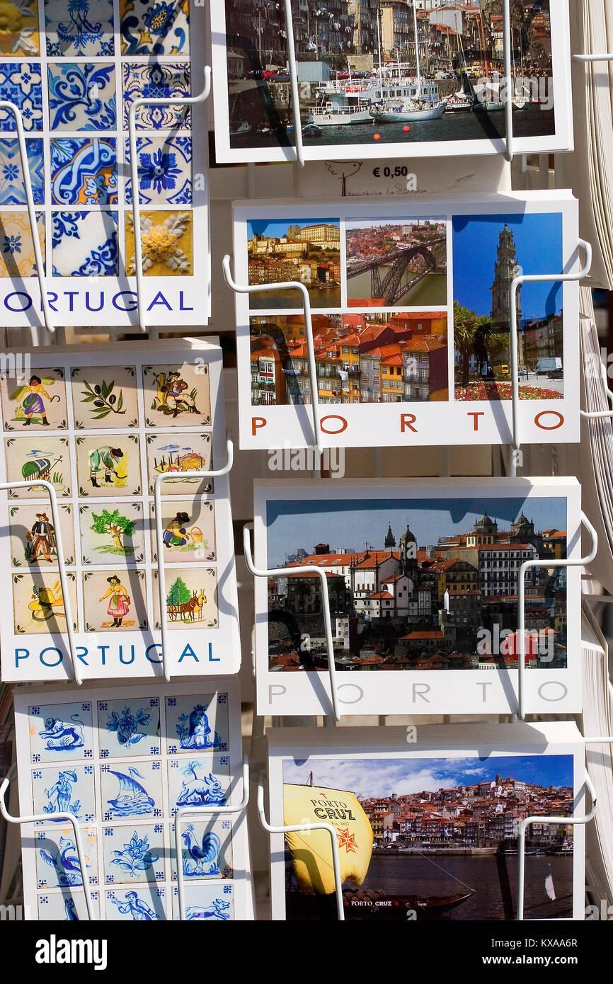 Postcards of Porto, Portugal - Stock Image
