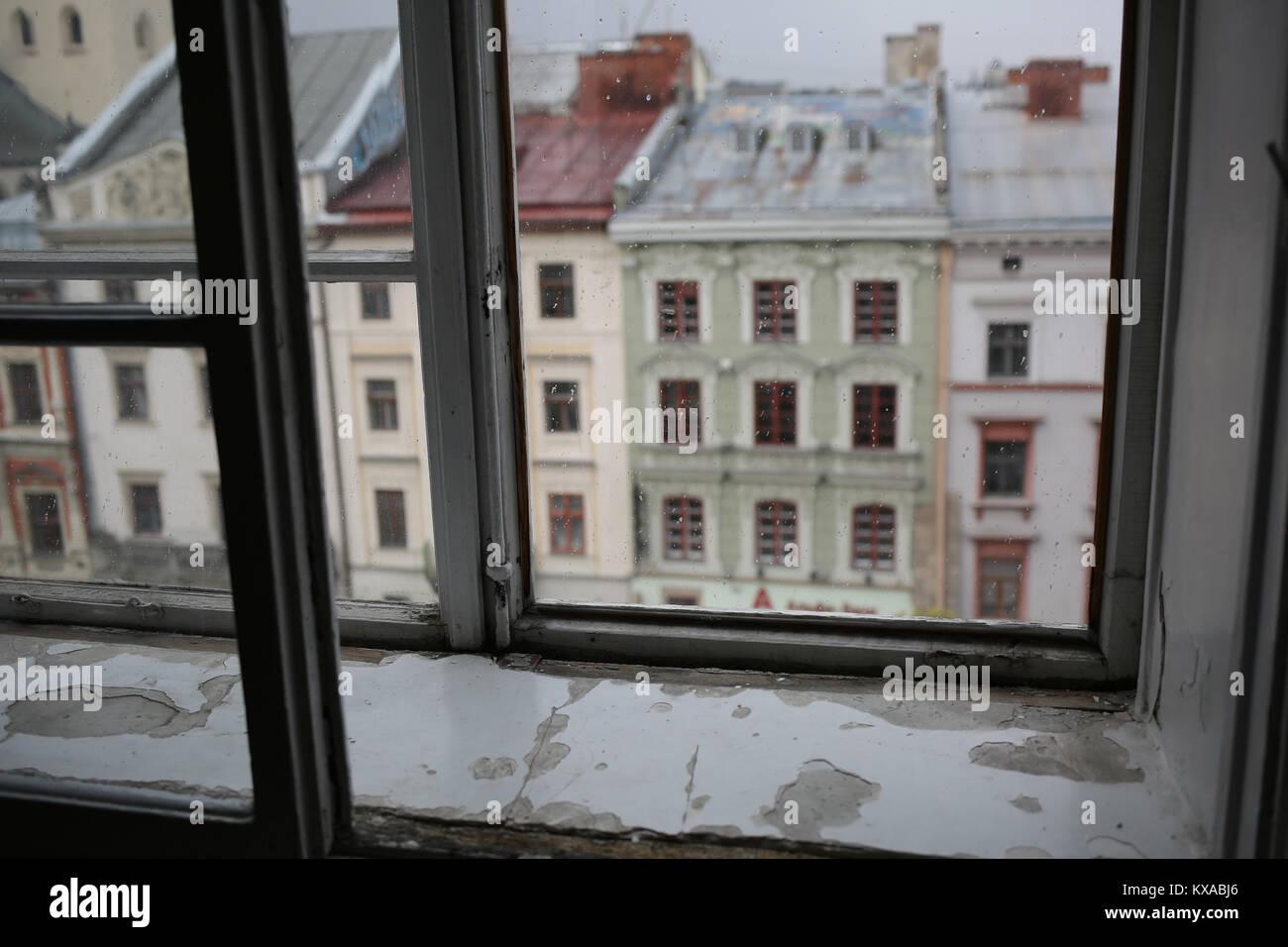 Lviv Ukraine old city Stock Photo