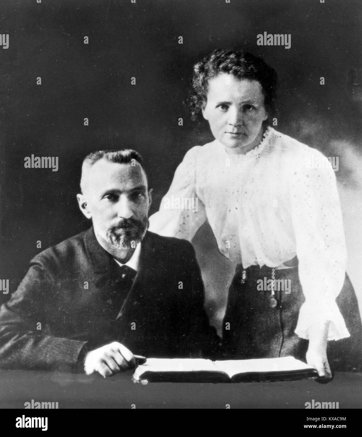 Pierre and Marie Curie, Pierre Curie, French physicist and his wife, Marie Skłodowska-Curie, Marie Curie Stock Photo