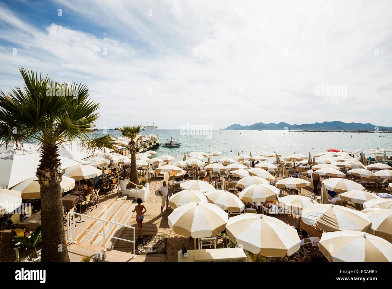 Lido, Cannes, Côte d' Azur, Provence-Alpes-Côte d' Azur, South of France, France - Stock Image