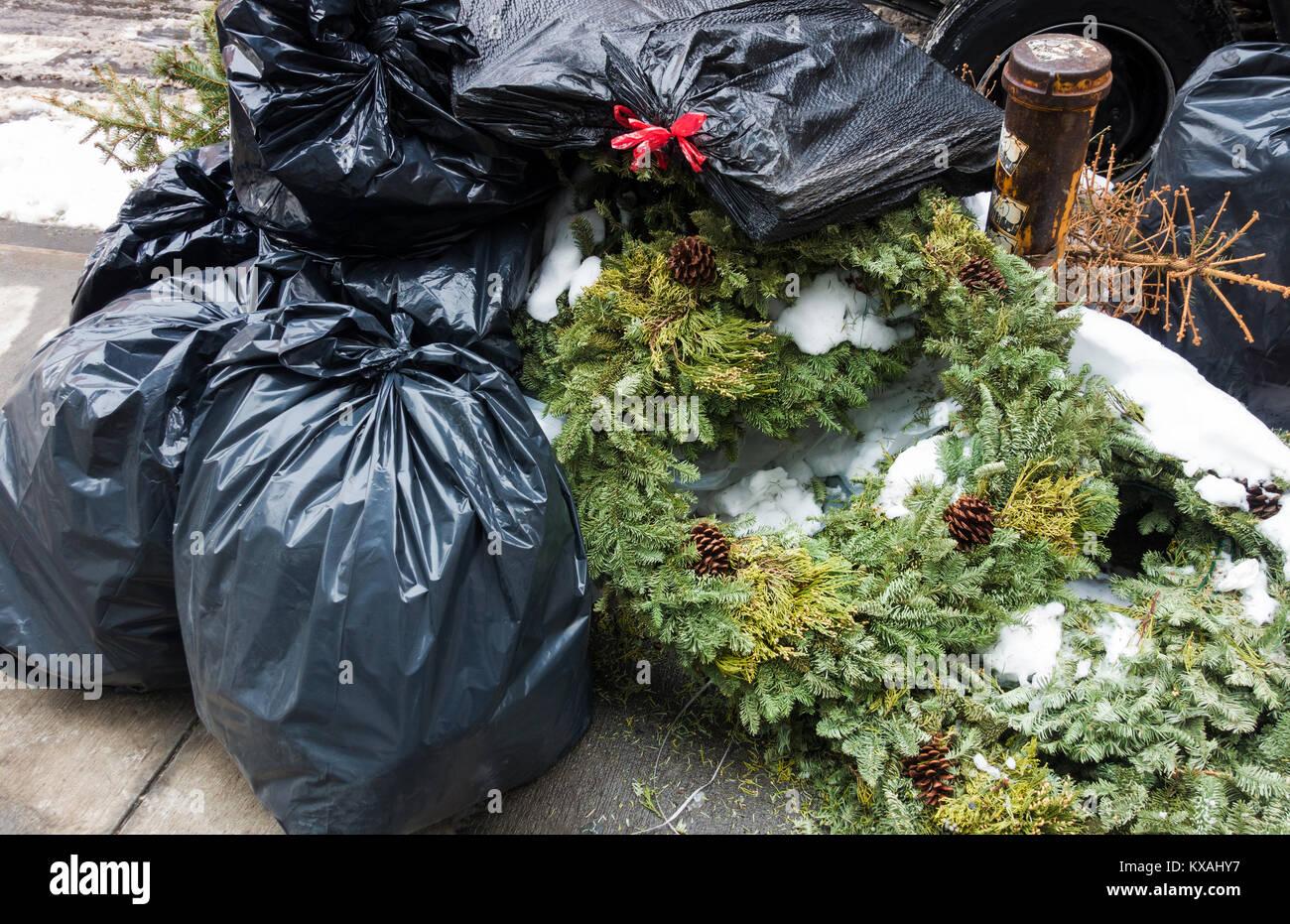 Pile Rubbish In New York Usa Stock Photos & Pile Rubbish