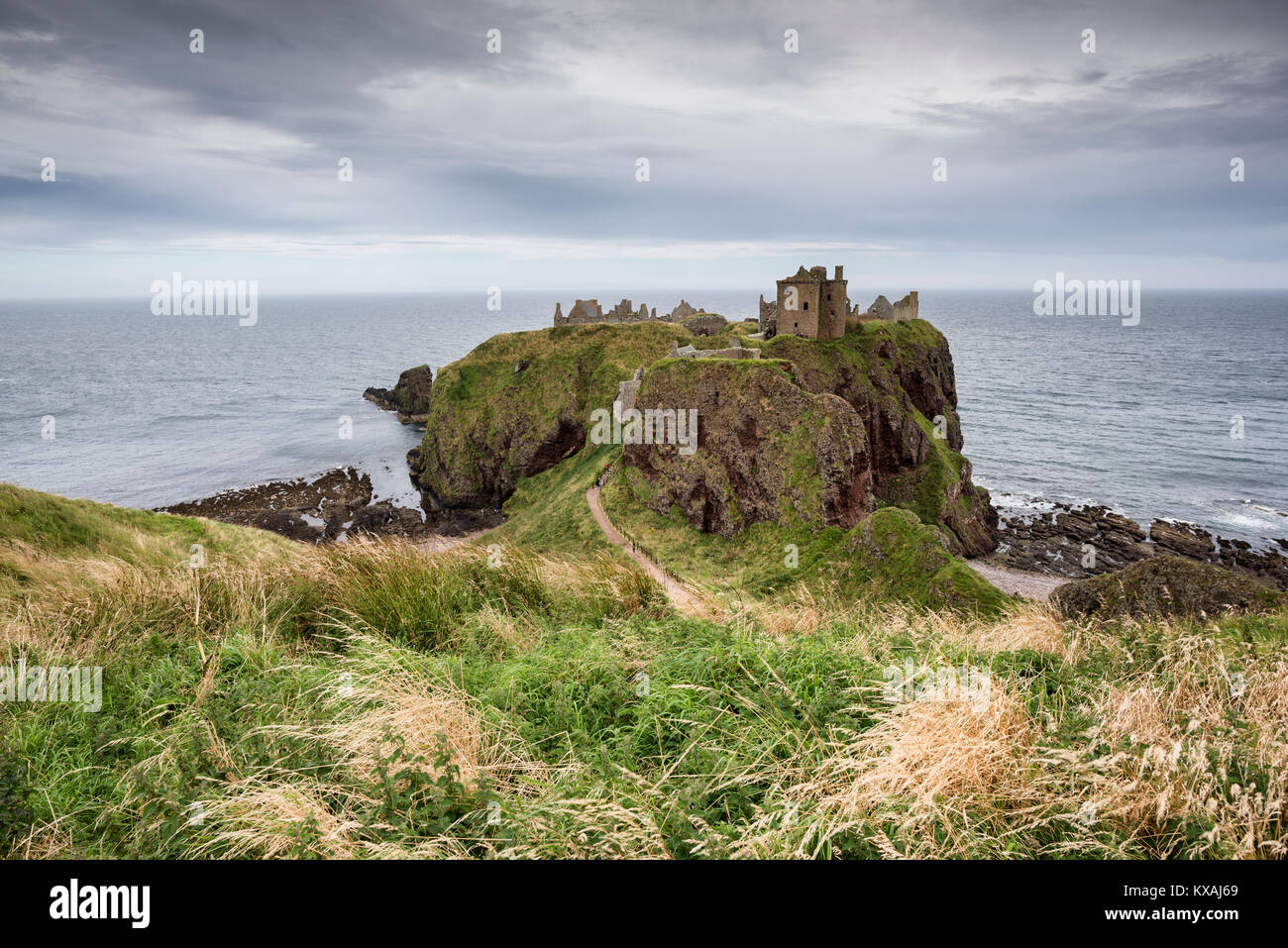 Dunnottar Castle, North Sea coast near Stonehaven, Scotland, Great Britain - Stock Image