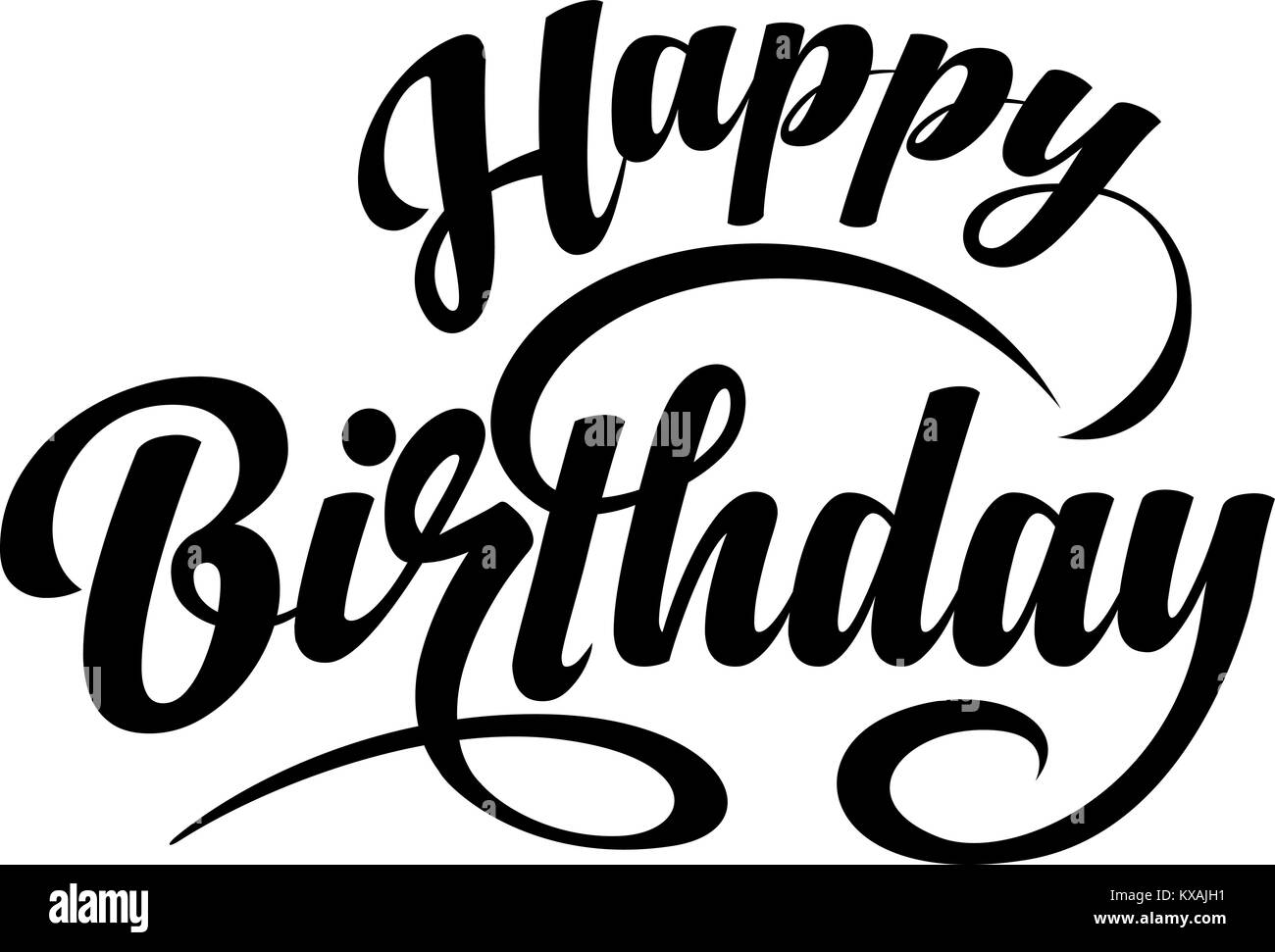 Happy Birthday Text Stock Vector Art Illustration Image