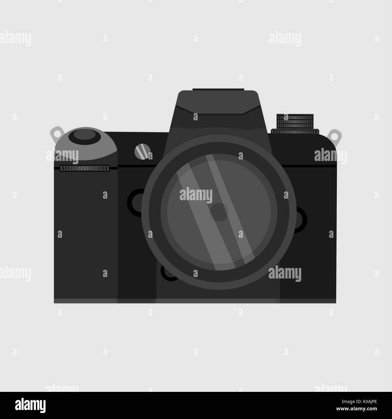 SLR camera ,Photo camera illustration - Stock Image