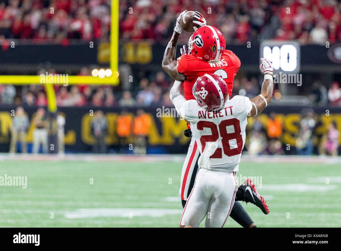 newest e66ca f9d9a Atlanta, GA, USA. 8th Jan, 2018. Georgia Bulldogs wide ...