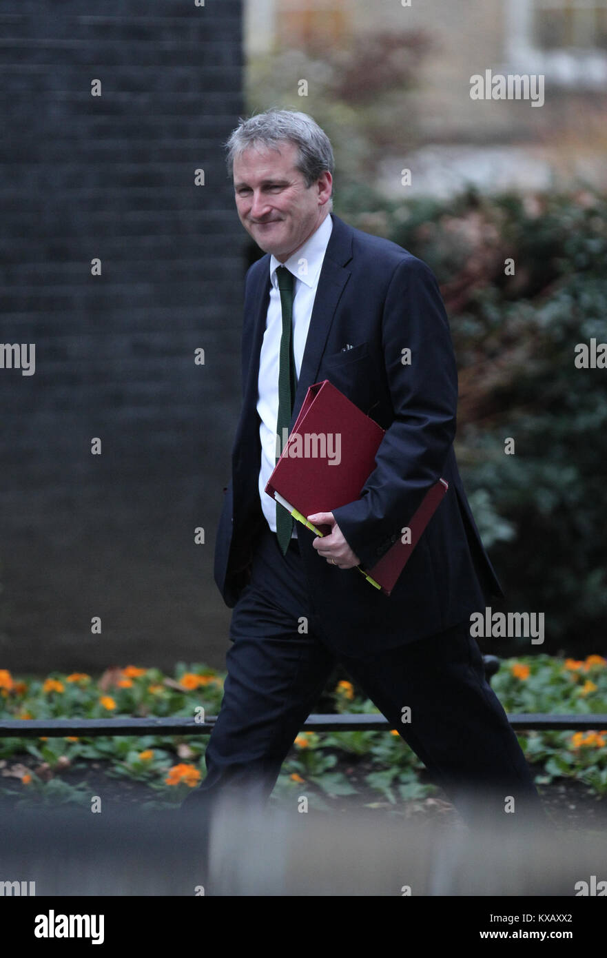 London, UK. 9th Jan, 2018. Damian Hinds MP Secretary of State for Education attends a cabinet meeting at 10 Downing - Stock Image