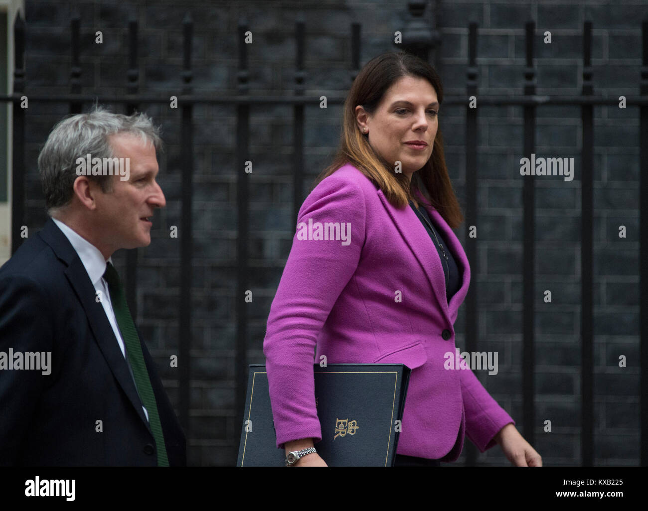 Downing Street, London, UK. 9th Jan, 2018. Government ministers old and new in Downing Street for weekly cabinet - Stock Image