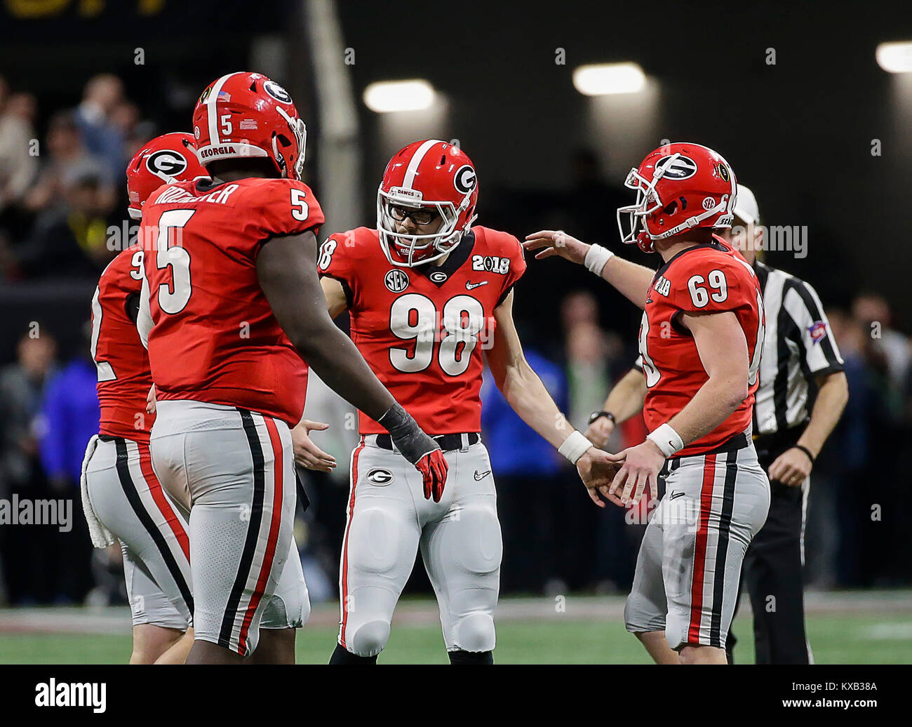 the best attitude 93bf8 5257c Atlanta, GA, USA. 8th Jan, 2018. Georgia Bulldogs PK #98 ...