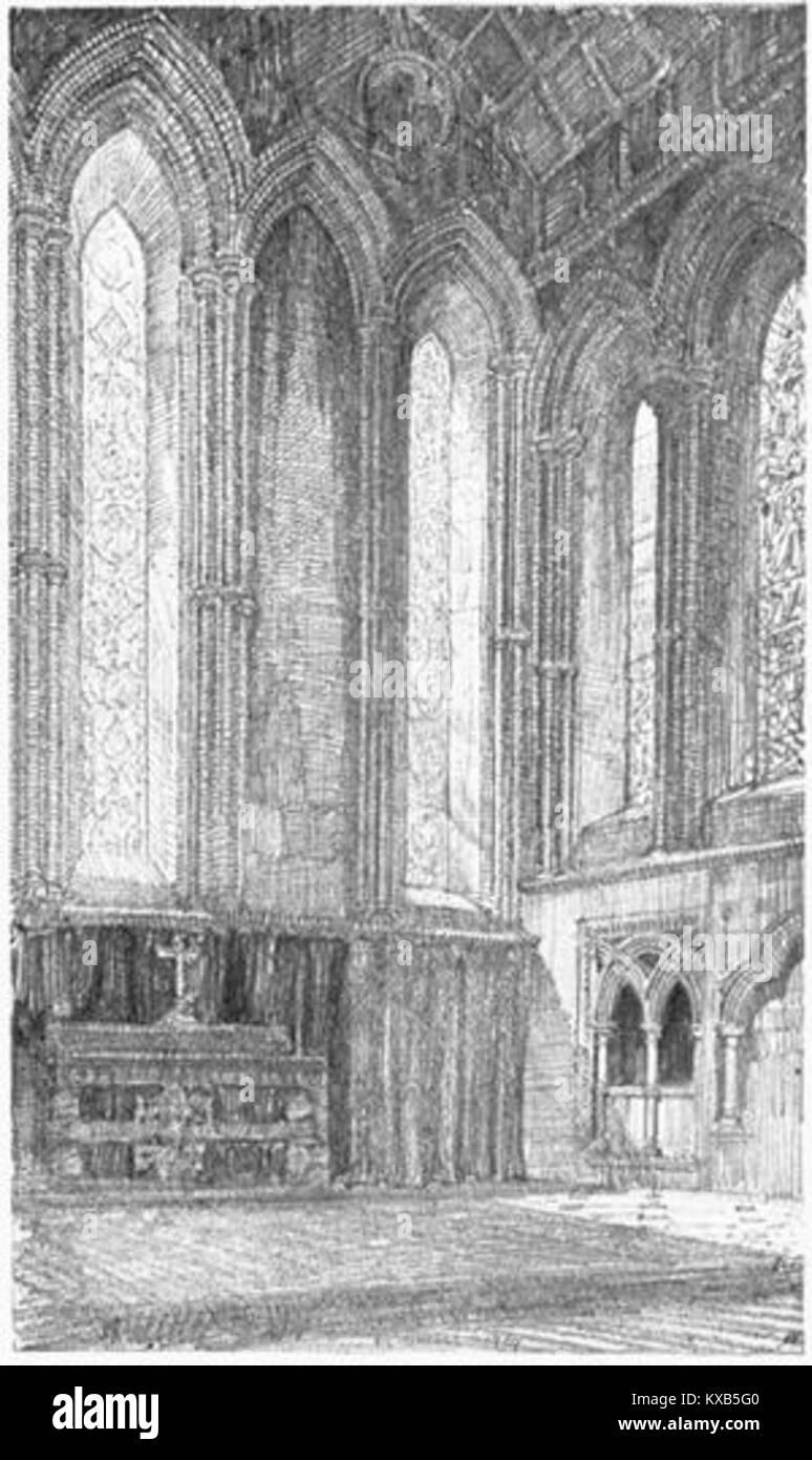 Griggs 1910 - Jesus College Chapel, East End - gutenberg 38735 img035 - Stock Image