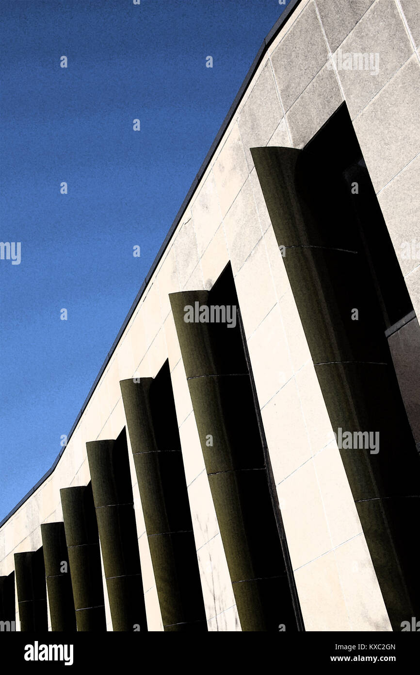 Architectural detail of building in Kitchener Ontario Canada. - Stock Image